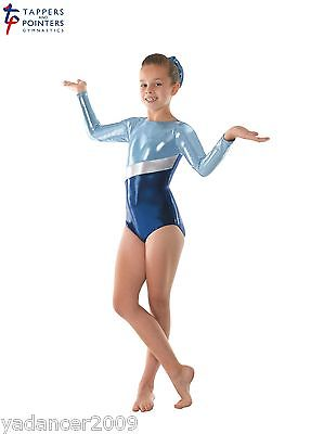 Gymnastics Long Sleeved Leotard PLUS Matching Hair Scrunchie Amazon Blue Gym10 Free UK delivery