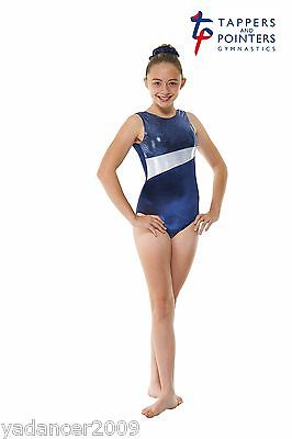 Gymnastics Sleeveless Leotard PLUS Matching Hair Scrunchie Navy/Cosmic Gym17 Free UK delivery