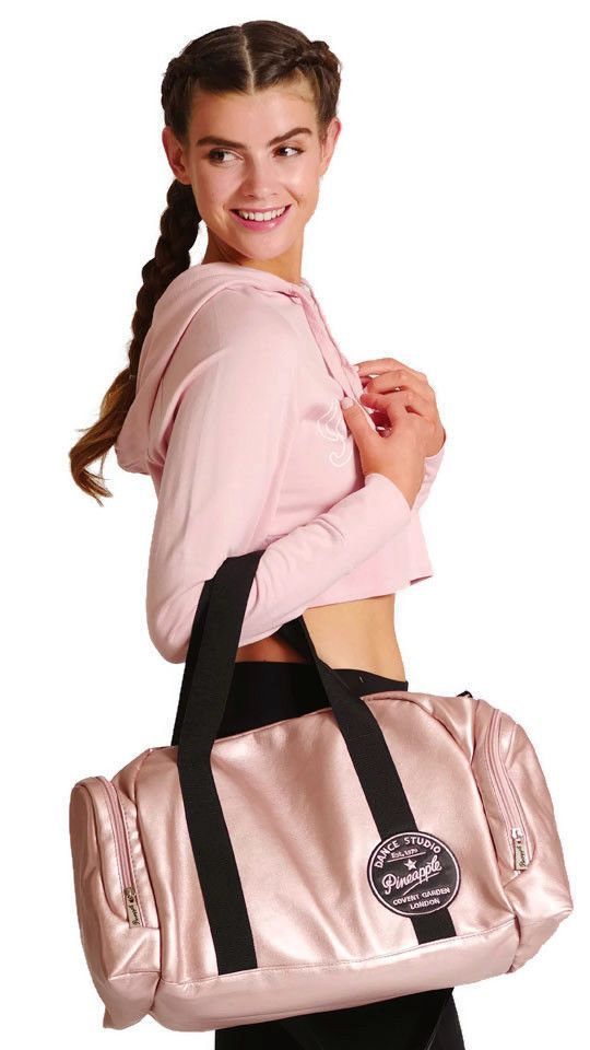 PINEAPPLE DANCEWEAR Dancers Bag Holdall Ballet Gym Gymastics Dance Rose Gold