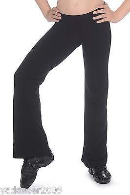 Roch Valley Bootleg Jazz Pants Slim Fit Cotton Lycra Black Dance Gym Fitness
