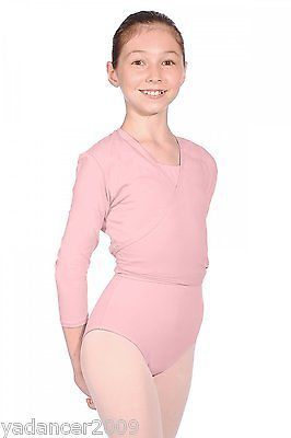 Roch Valley Cross Over Wrap Cardigan Nikki Cotton Lycra Ballet Dance Pink