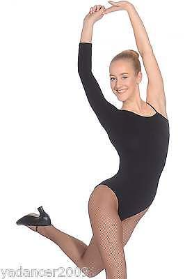 Roch Valley Dance Leotard Asymetric One Sleeve Design Cotton/Lycra Black