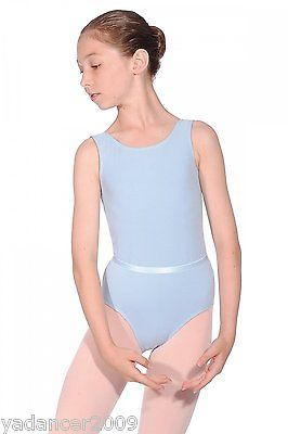 Roch Valley Dance Leotard & Belt CJune Cotton/Lycra Ballet RAD Exam Panama Blue