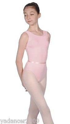 Roch Valley Sleeveless Dance Leotard & Belt June Cotton Lycra Exam/Reg PINK